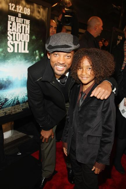 Will Smith and Jaden Smith at the premiere of
