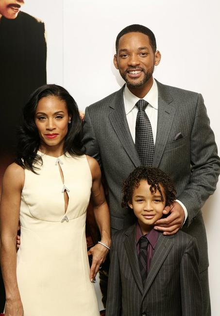 Jada Pinkett Smith, Will Smith and Jaden Smith at the UK premiere of
