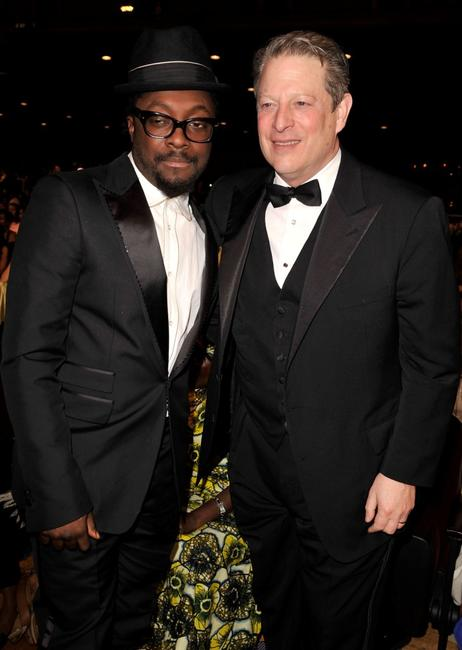 will.i.am and Al Gore at the 40th NAACP Image Awards.