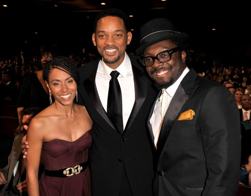 Jada Pinkett Smith, Will Smith and will.i.am at the 40th NAACP Image Awards.