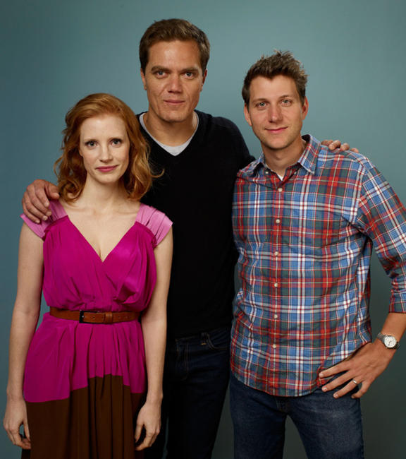 Jessica Chastain, Michael Shannon and Jeff Nichols at the portrait session of