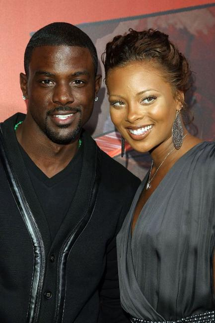 Lance Gross and Eva Marcille at the Afro Samurai Video Game Launch party .