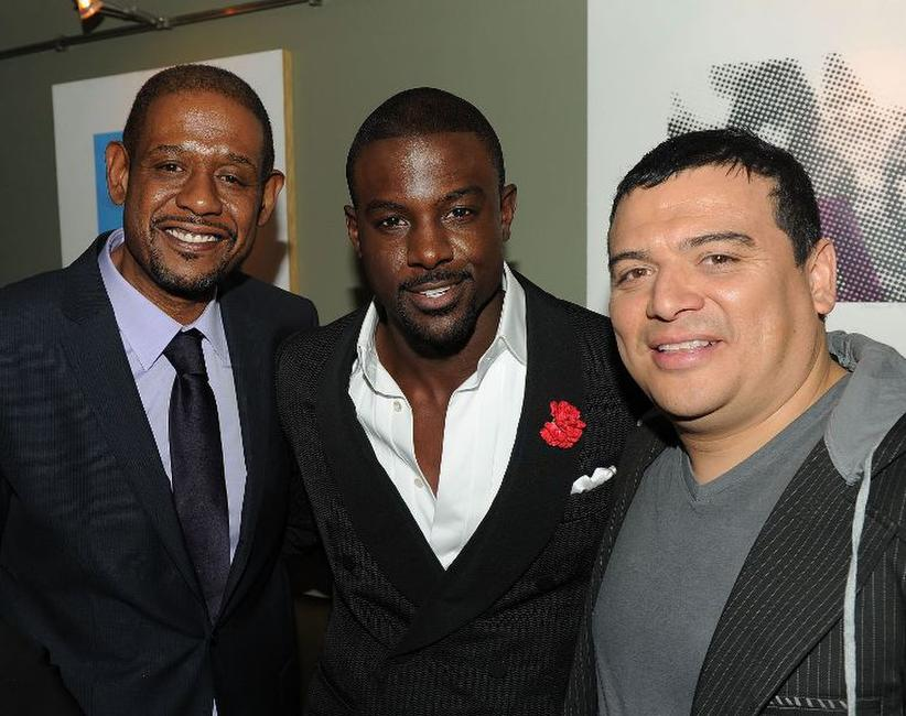 Forest Whitaker, Lance Gross and Carlos Mencia at the after party of the New York premiere of