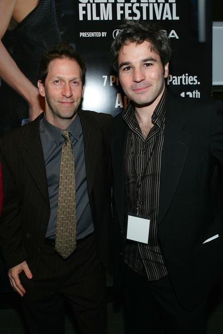 Tim Blake Nelson and Jeff Abramson at the10th Annual Gen Art Film Festival launch party at Emporio Armani.