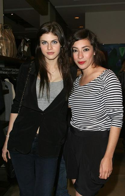Alexandra Daddario and Zoe Glassner at the Evening of Italian Fashion and Style.