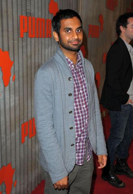 Aziz Ansari at the African Bazaar presented by Puma.