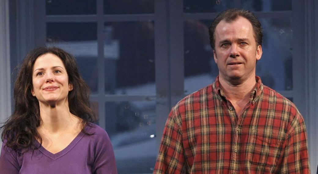 Mary Louise Parker and Michael O'Keefe at the play opening of