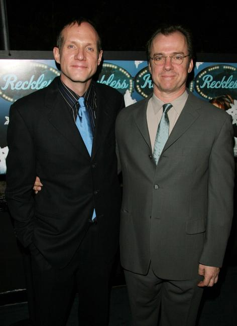 Michael O'Keefe and Mark Brokaw at the after party for the play opening of