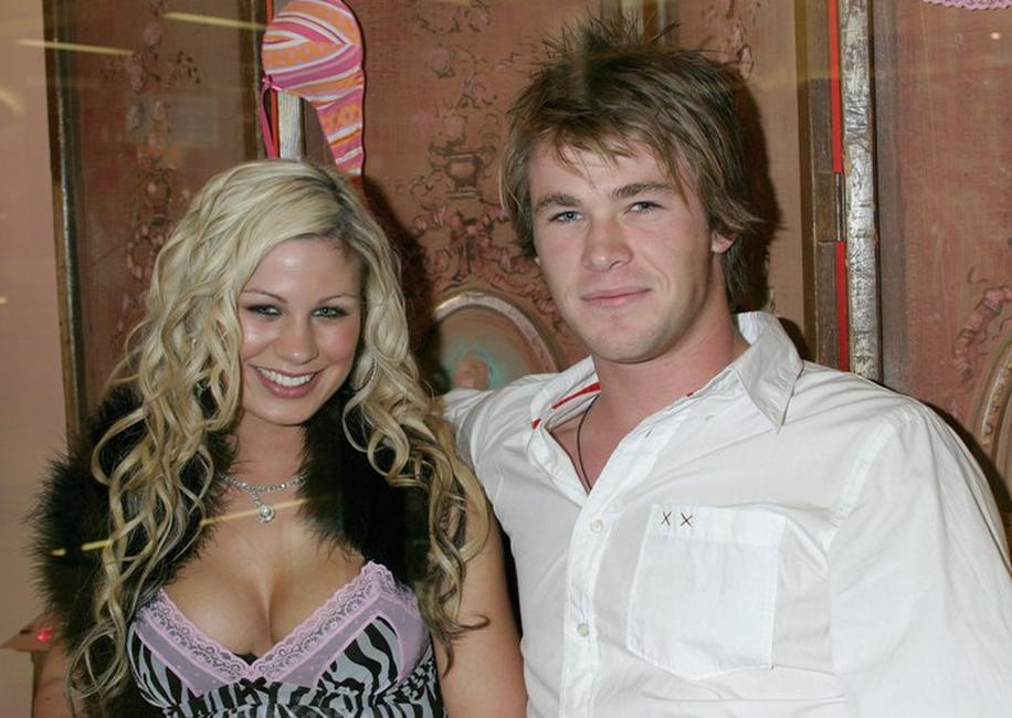Pauline Pedryc and Chris Hemsworth at the launch of La Senza Ultimate Lingerie.