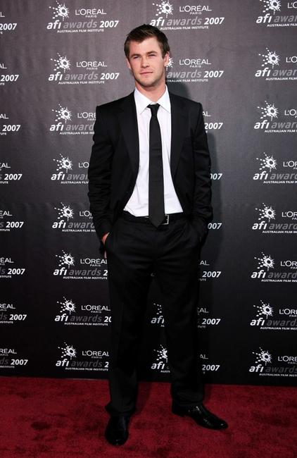 Chris Hemsworth at the L'Oreal Paris 2007 AFI Awards Dinner.