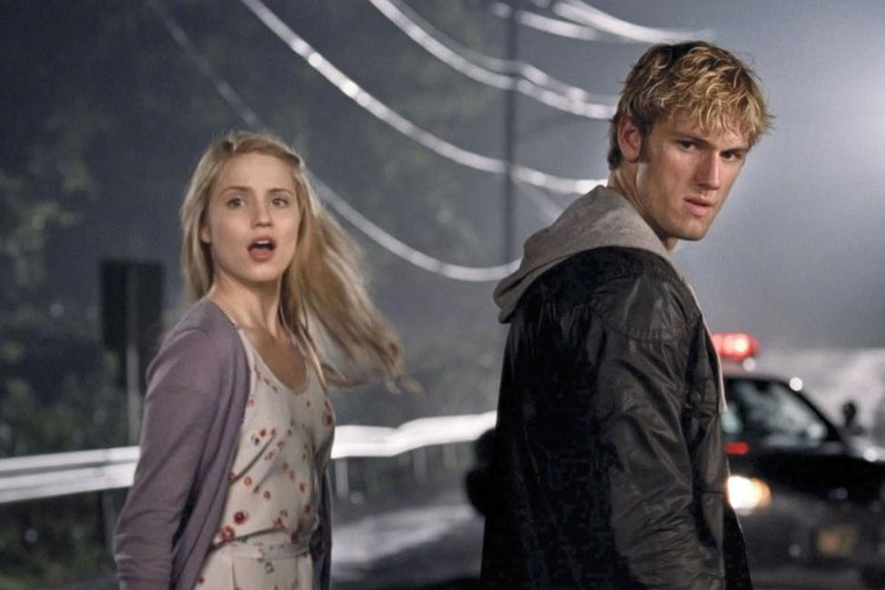 Dianna Agron as Sarah and Alex Pettyfer as John in