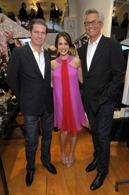 James Mischka, Julie Benz and Mark Badgley at the opening of the new Badgley Mischka boutique.