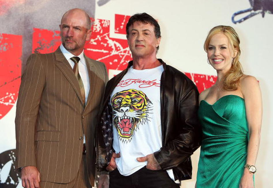Graham McTavish, Julie Benz and Sylvester Stallone at the premiere of