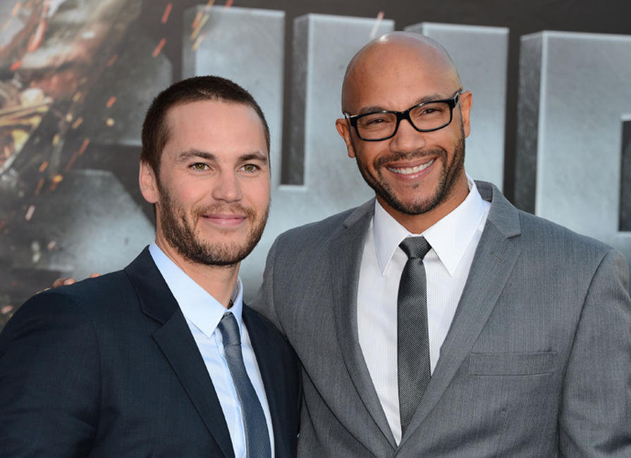 Taylor Kitsch and Stephen Bishop at the California premiere of