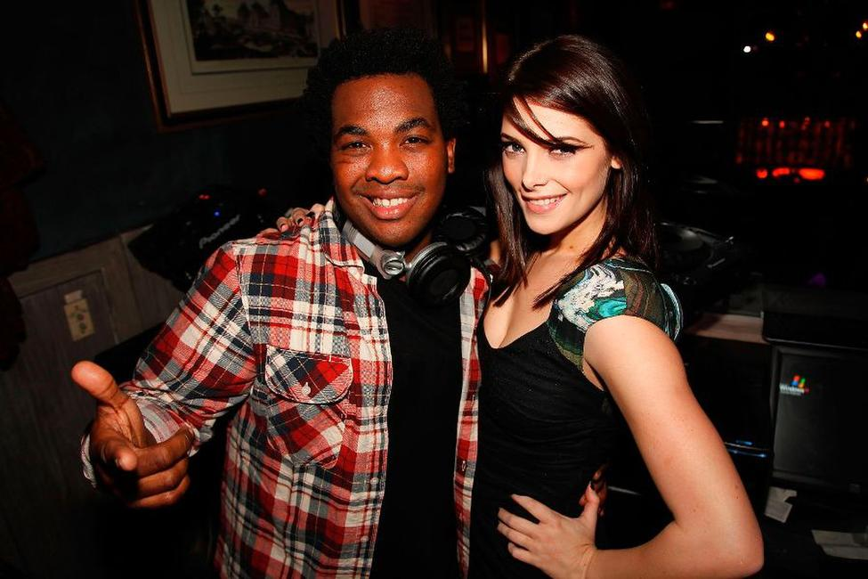 DJ Reach and Ashley Greene at the December Maxim Issue with Ashley Greene.