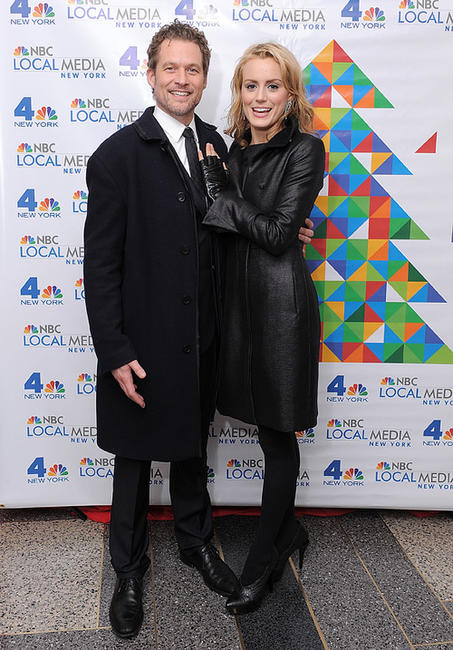 James Tupper and Taylor Schilling at the WNBC Celebrates The Rockefeller Center Tree Lighting Ceremony in New York.