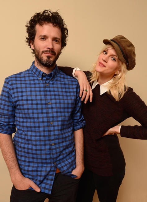 Bret McKenzie and Georgia King at the portrait session of