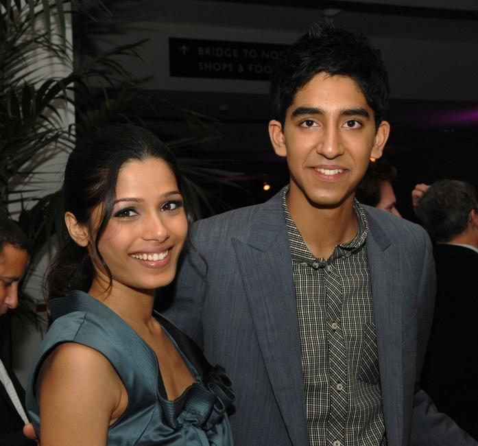 Freida Pinto and Dev Patel at the screening of