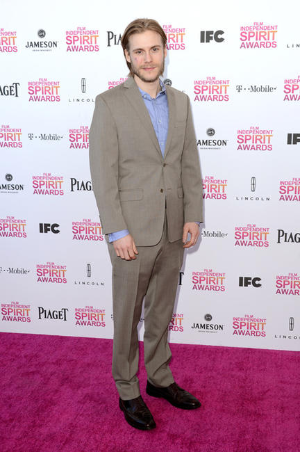 Zachary Booth at the 2013 Film Independent Spirit Awards in California.