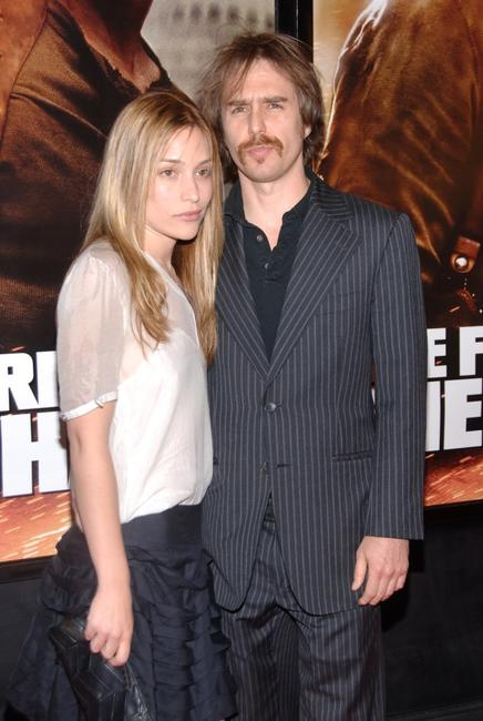 Sam Rockwell and Piper Perabo attend the premiere of
