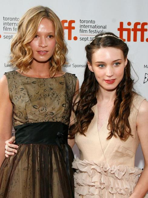Amy Ferguson and Rooney Mara at the screening of