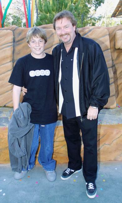 Stephen Root and his son Codie at the Six Flags Magic Mountain.