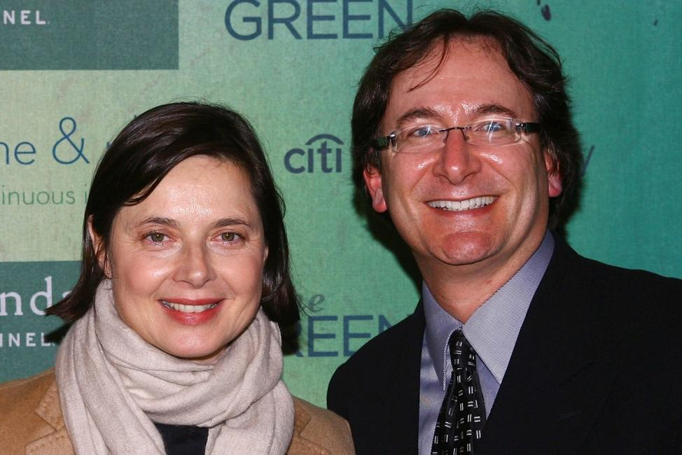 Isabella Rossellini and Larry Aidem at the Sundance channel's The Green launch party.