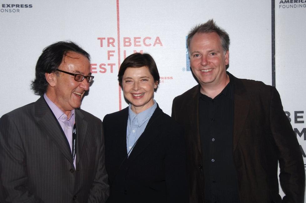 Isabella Rossellini, Peter Scarlett and Guy Maddin at the premiere of