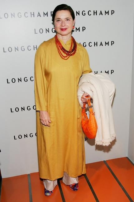 Isabella Rossellini at the grand opening of the Longchamp U.S. Flagship Store.
