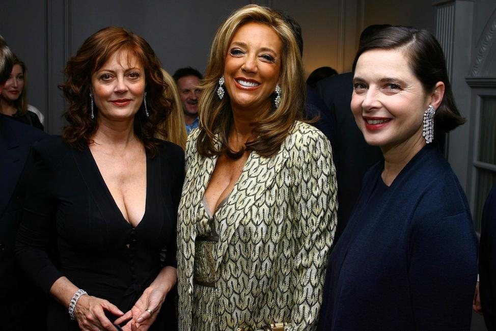 Isabella Rossellini, Susan Sarandon and Denise Rich at the Leview store opening.