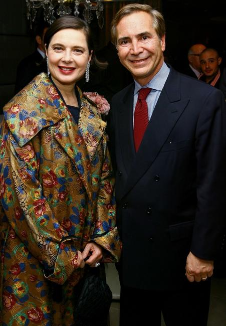 Isabella Rossellini and Thierry Chaunu at the Leview store opening.