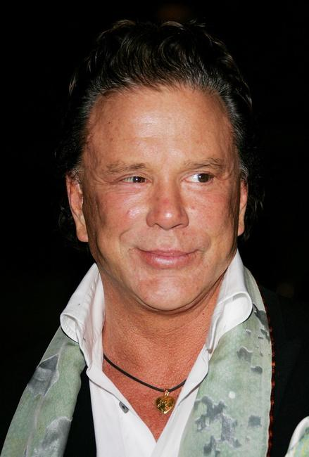 Mickey Rourke at the Vanity Fair Tribeca Film Festival Party.