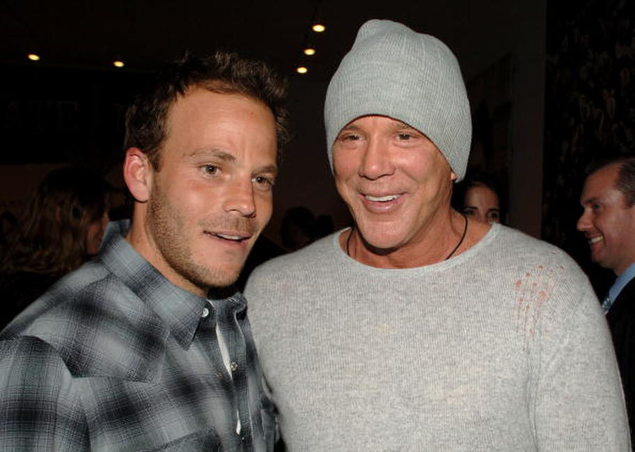 Mickey Rourke and Stephen Dorff at the private opening of Dennis Hopper's