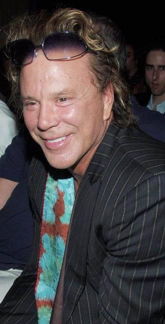 Mickey Rourke at the Esteban Cortazar Spring 2007 Fashion show during the Olympus Fashion Week.