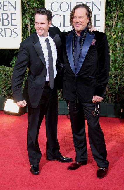Kevin Dillon and Mickey Rourke at the 66th Annual Golden Globe Awards.