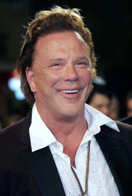 Mickey Rourke at the screening of
