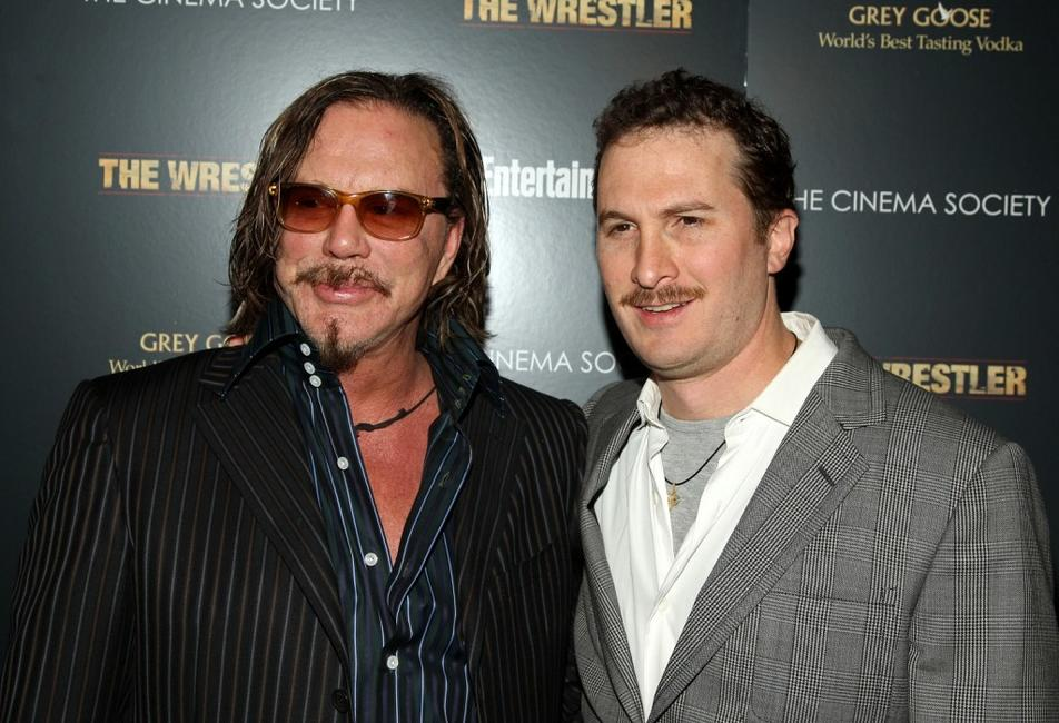 Mickey Rourke and Director Darren Aronofsky at the special screening of
