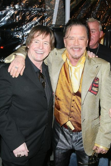 Roddy Piper and Mickey Rourke at the premiere of