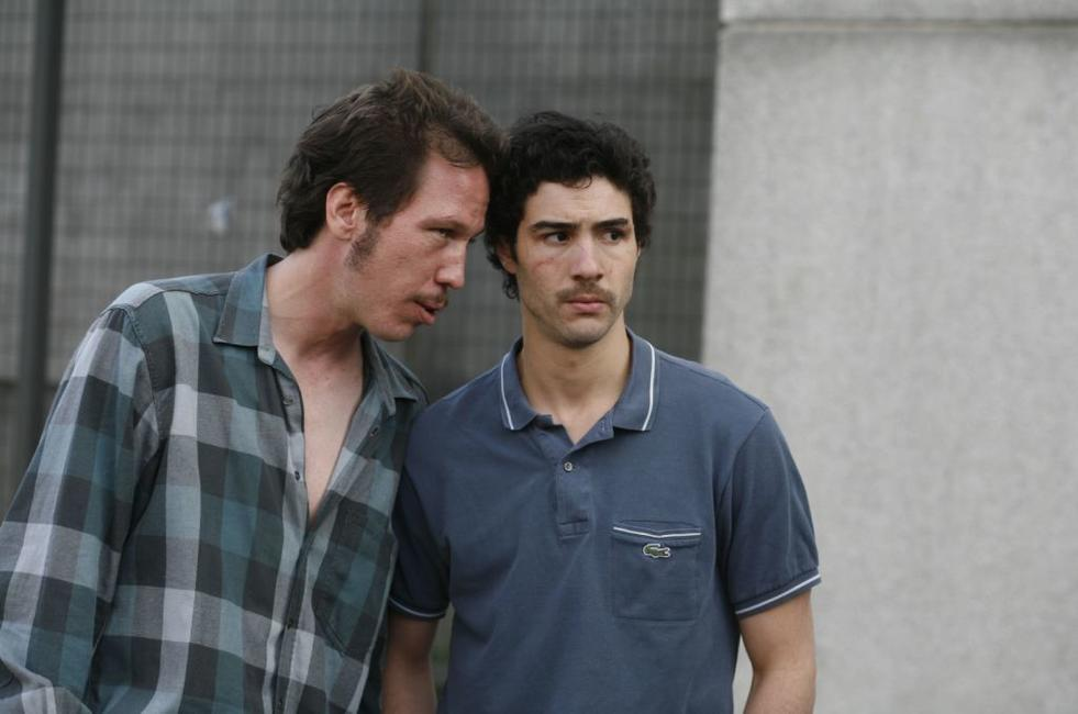 Reda Kateb as Jordi al Gitan and Tahar Rahim as Malik in