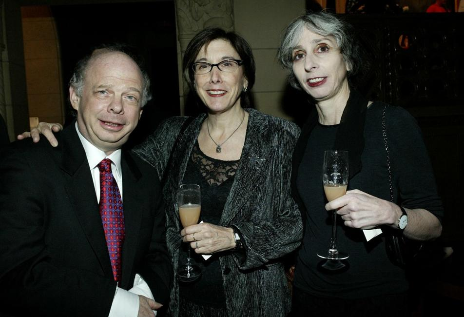 Wallace Shawn, Robyn Goodman and Novelist Deborah Eisenberg at the Second Stage Theatre's 25th Anniversary Celebration.