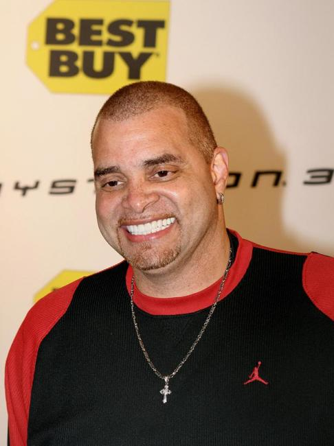 Sinbad at the launch party for the new Playstation 3.