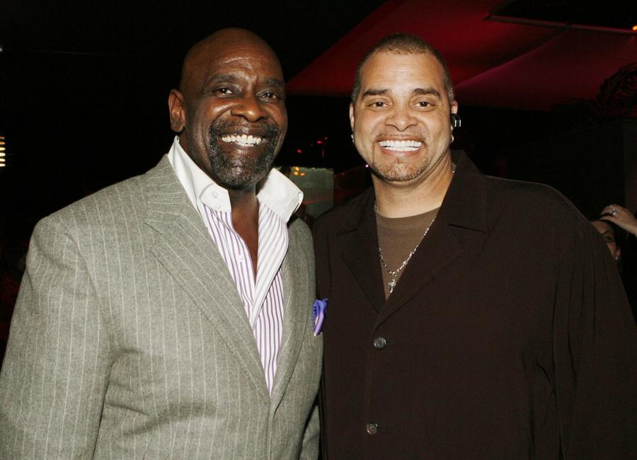 Sinbad and Chris Gardner at the afterparty for the premiere of