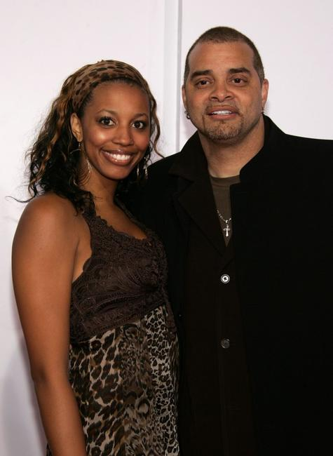 Sinbad and Paige Bryan at the world premiere of