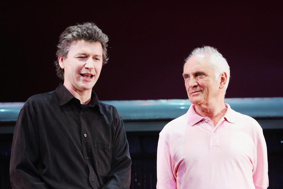 Terence Stamp and Simon Phillips at the photocall of