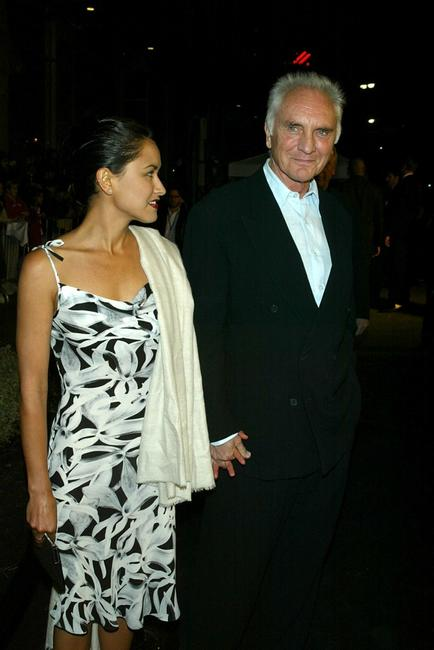 Terence Stamp and his wife Elizabeth ORourke at the premiere of