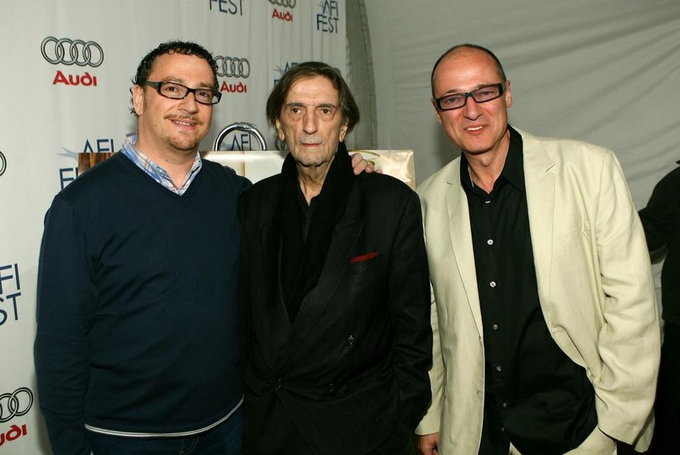 Producer Gary Shoefield, Harry Dean Stanton and Producer Ray Santilli at the north American premiere of