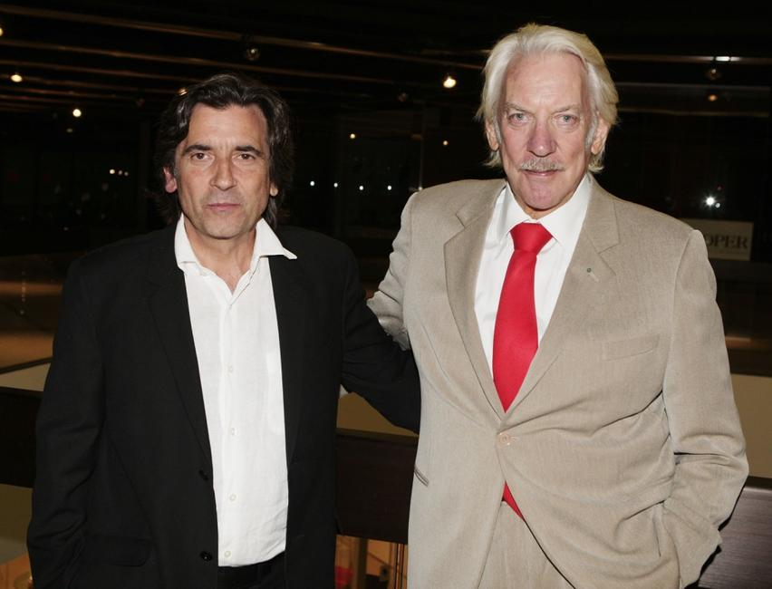 Donald Sutherland and Griffin Dunne at the premiere of Autonomous Picture's