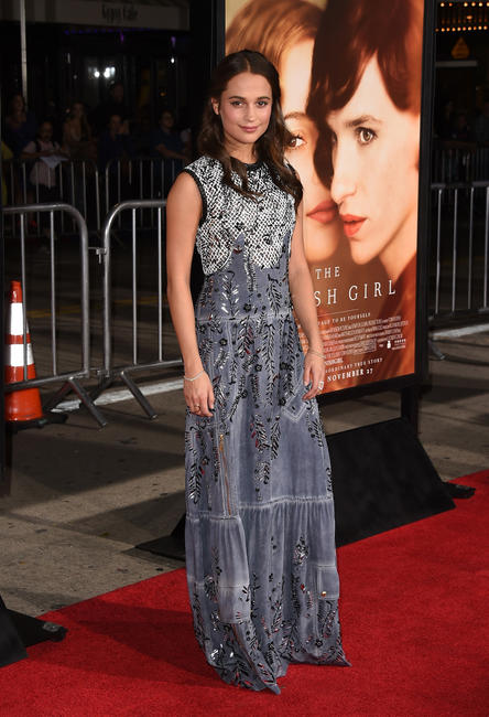 Alicia Vikander at the California premiere of