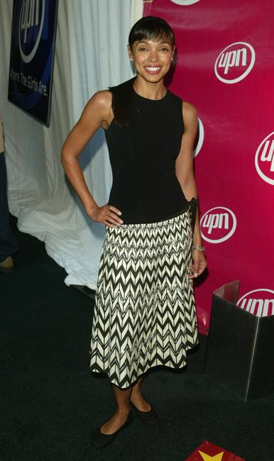 Tamara Taylor at the UPN network upfront.