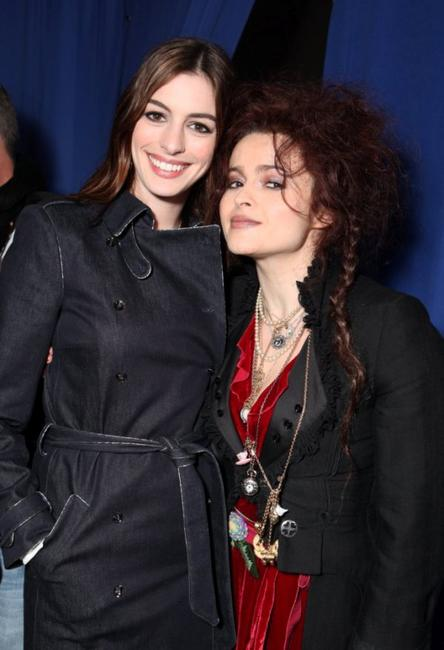 Anne Hathaway and Helena Bonham Carter at the Alice In Wonderland Ultimate Fan Event.